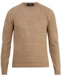 Zanone - Crew-neck Linen-cotton Knit Sweater - Lyst