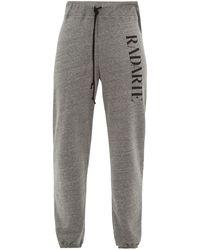 Rodarte Radarte-print Fleece-back Jersey Track Pants - Gray