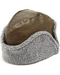 Maison Michel - Sofia Leather Hat - Lyst