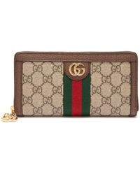 Gucci - Ophidia Gg-supreme Leather-trimmed Wallet - Lyst