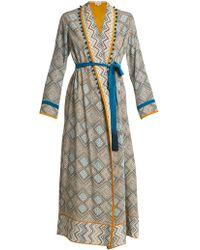 Talitha - Maghreb Print Silk Crepe Robe - Lyst