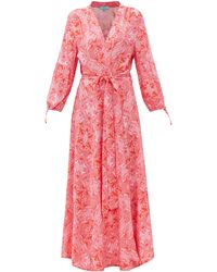 Melissa Odabash ギャビー フローラル ポプリンラップドレス - ピンク