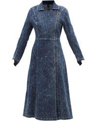 Norma Kamali Gang Side-zip Denim Coat - Blue