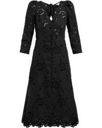Rebecca Taylor - Terri Broderie Anglaise Linen Dress - Lyst