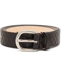 Isabel Marant Zap Snakeskin-effect Leather Belt - Black
