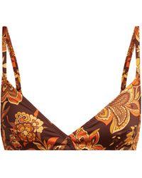 Dodo Bar Or Haut de bikini à imprimé floral Jenna - Marron