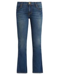 The Great The Nerd Mid-rise Kick-flare Jeans - Blue