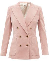 Bella Freud Bianca Cotton-corduroy Suit Jacket - Pink