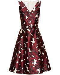 Oscar de la Renta - Printed Silk Dress - Lyst