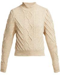 Isabel Marant - Brantley Aran Knit Wool Blend Sweater - Lyst