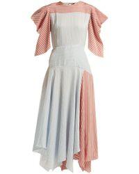 Anna October - Striped Panelled Midi Dress - Lyst