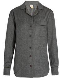 Morpho + Luna - Agatha Flannel-wool Pyjama Shirt - Lyst
