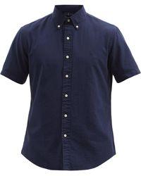Polo Ralph Lauren コットンシアサッカーシャツ - ブルー