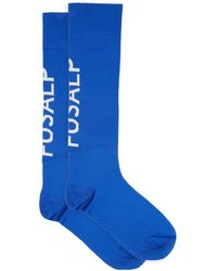 Fusalp Pop Logo-jacquard Technical-jersey Socks - Blue