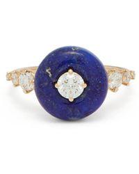 Fernando Jorge Orbit 18kt Rose Gold, Lapis & Diamond Ring - Blue