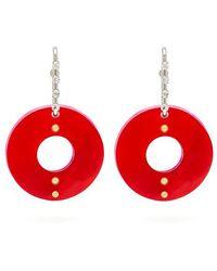 Marni - Crystal And Hoop Earrings - Lyst