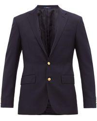 Polo Ralph Lauren ウールツイル シングルテーラードジャケット - ブルー
