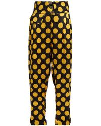 Duro Olowu - Large Polka-dot Print Silk-satin Cropped Trousers - Lyst