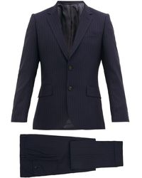Paul Smith Pinstriped Wool Suit - Blue