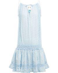 Melissa Odabash - Chelsea Embroidered Cotton Mini Dress - Lyst