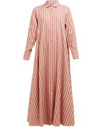 Palmer//Harding Robe-chemise en popeline de lin et coton Casablanca - Multicolore