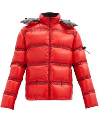 5 MONCLER CRAIG GREEN Ramis Hooded Down Quilted-ripstop Jacket - Red