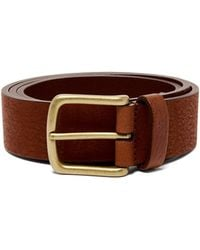Andersons Pebbled Leather Belt - Brown