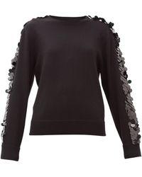 Bella Freud Lady Day Sequinned Wool Sweater - Black