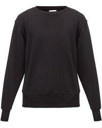 Les Tien ブラッシュドバックコットン スウェットシャツ - ブラック