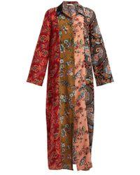 Anjuna - Augustina Panelled Silk-crepe Dress - Lyst