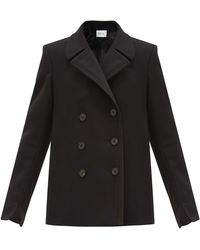 Pallas Halifax Double-breasted Wool-blend Pea Coat - Black