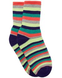 The Elder Statesman Striped Cashmere Socks - Multicolour