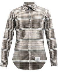 Thom Browne チェック コットンオックスフォードシャツ - グリーン