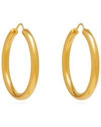 Theodora Warre - Gypsy Gold-plated Hoop Earrings - Lyst