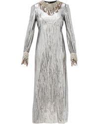Gucci クリスタル ラメドレス - マルチカラー