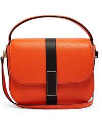 Valextra Iside Grained-leather Cross-body Bag - Orange