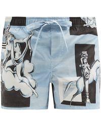 Dolce & Gabbana エンシェント グリーク コットンショートパンツ - ブルー