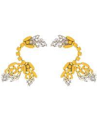 Marni - Painted Crystal Clip Ear Cuffs - Lyst