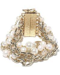 Rosantica Bracelet chaîne à ornements façon perle Comedy - Métallisé