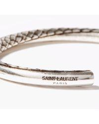 Saint Laurent スネークパターン ブレスレット - メタリック