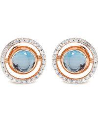 Marie Mas - Diamond, Amethyst, Topaz & Pink-gold Earrings - Lyst