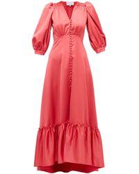 Luisa Beccaria - Button-up Silk Dress - Lyst