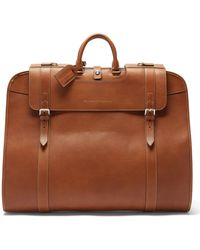 Brunello Cucinelli Grained-leather Garment Bag - Brown