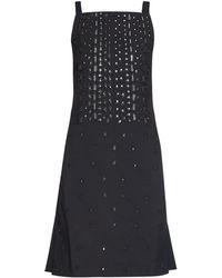 OSMAN - Embellished Square Neck Dress - Lyst