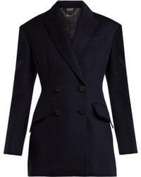 Alexander McQueen - Double Breasted Virgin Wool Jacket - Lyst