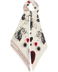 Alexander McQueen ミスティック シルク&ウールツイルスカーフ - マルチカラー
