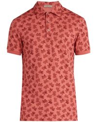 Bottega Veneta - Butterfly Print Polo Shirt - Lyst