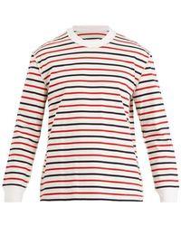 Maison Margiela - Striped Cotton-jersey Jumper - Lyst