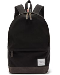 Thom Browne - Unstructured Canvas And Suede Backpack - Lyst