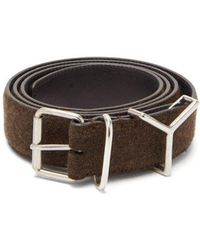 Y. Project - - Y Loop Wool And Leather Belt - Mens - Brown - Lyst